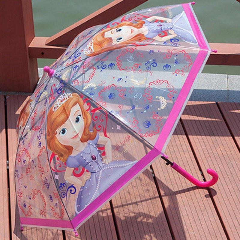 卓品佳可爱卡通佩佩猪粉红猪小妹透明儿童雨伞女孩男孩长柄自动幼儿园