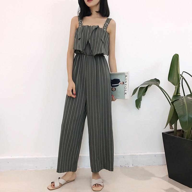 连体裤韩版九分裤