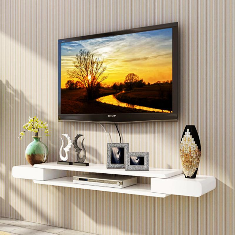 北欧现代简约壁挂式电视柜全实木白橡木悬挂日式小型窄电视柜吊柜