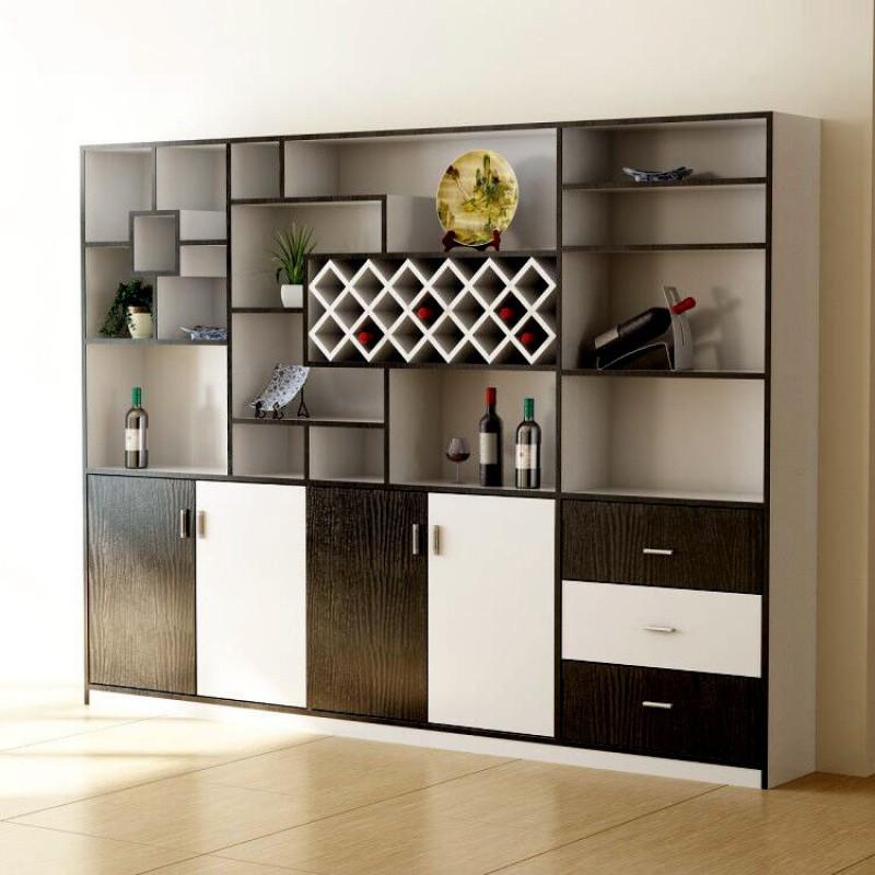现代简约客厅隔断柜美式酒柜欧式家用靠墙展示柜餐厅定制红酒柜子图片