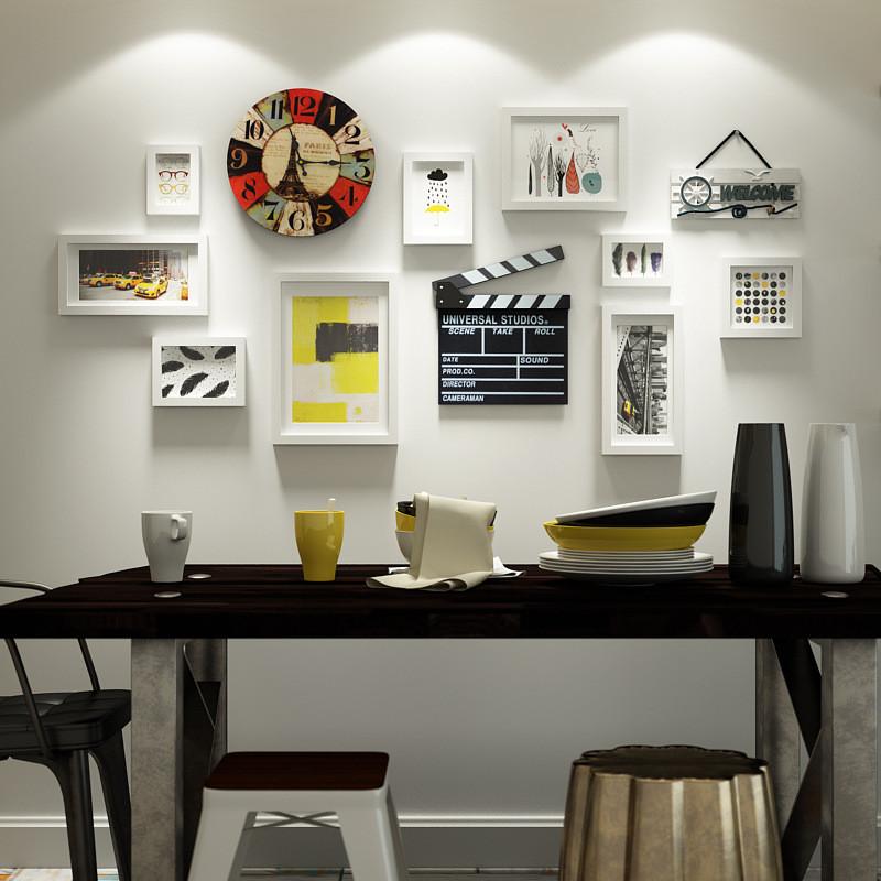 客厅复古钟表装饰品创意餐厅墙面挂件墙上墙饰墙壁挂饰背景墙壁饰
