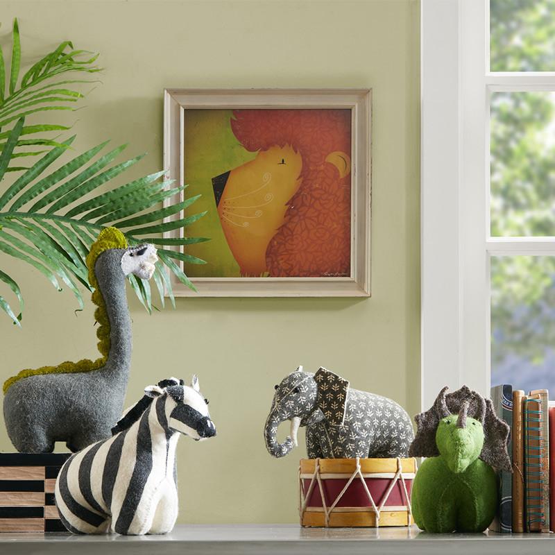 nakuru可爱动物现代装饰油画儿童卧室墙画