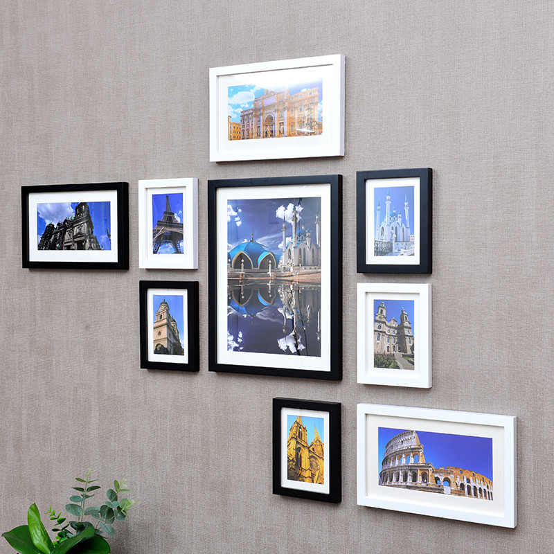 家居用品电视背景墙壁面上客厅卧室装饰创意房间装饰品个性照片墙