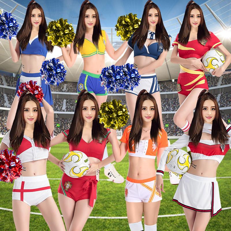 成人操guo_新款啦啦操服装成人演出服套装女学生拉拉队足球宝贝校园竞赛表演服装