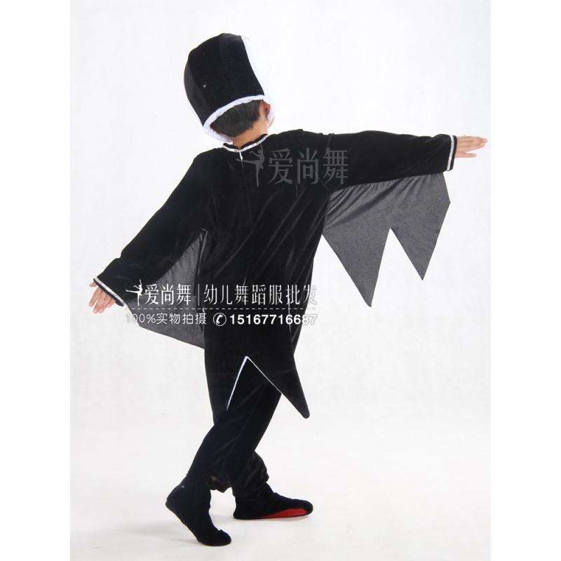 新款爱尚舞儿童燕子表演服装卡通动物小鸟乌鸦小燕子亲子舞蹈演出服装
