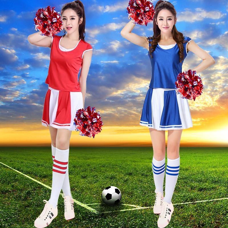 新款春夏成人学生篮球足球宝贝服套装啦啦队服装演出服啦啦操拉拉队服图片
