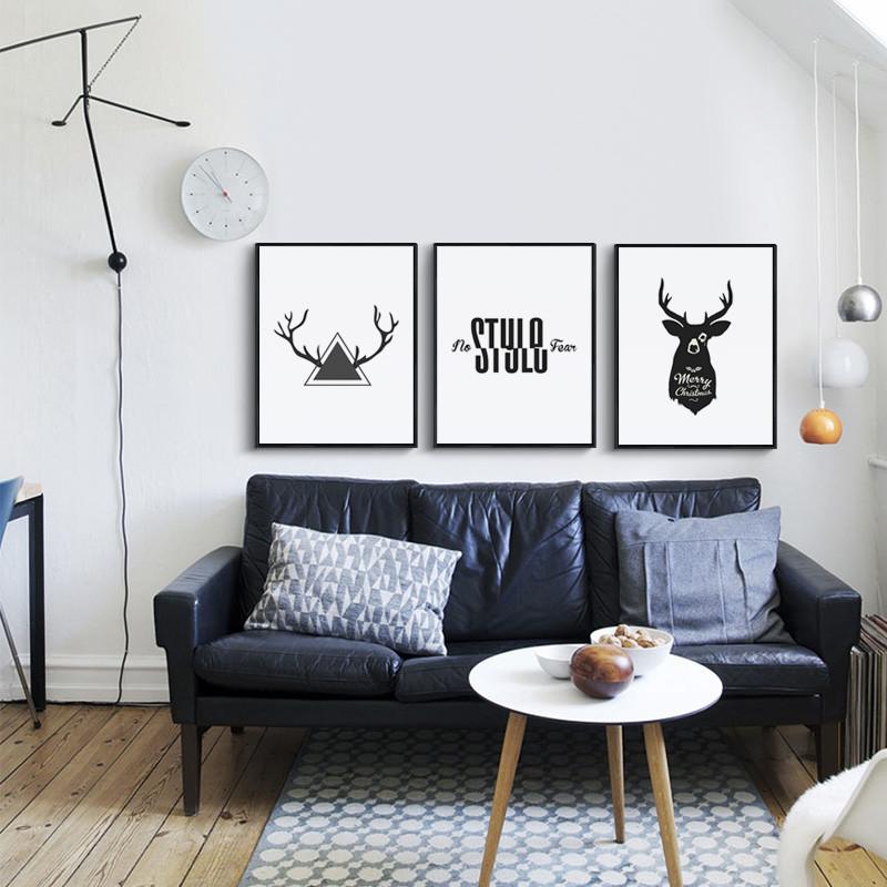 北歐客廳裝飾畫餐廳墻面掛畫三聯沙發背景墻壁畫現代簡約抽象墻