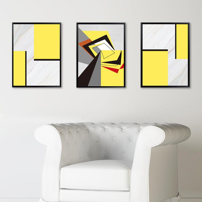 抽象色块装饰画家庭装饰客厅现代简约时尚大气室内装饰品创意挂画