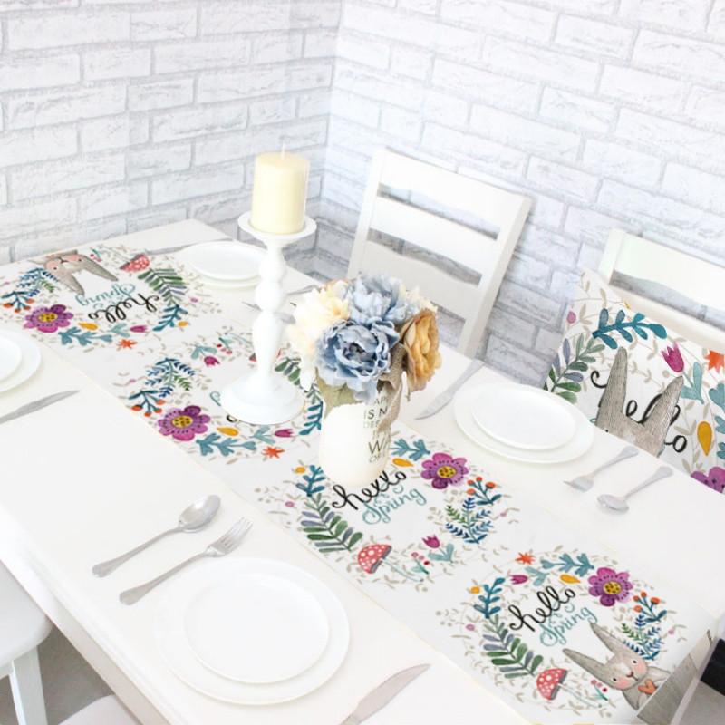 卡通可爱兔子桌旗创意家居桌旗时尚桌旗韩式桌旗桌巾桌子装饰物