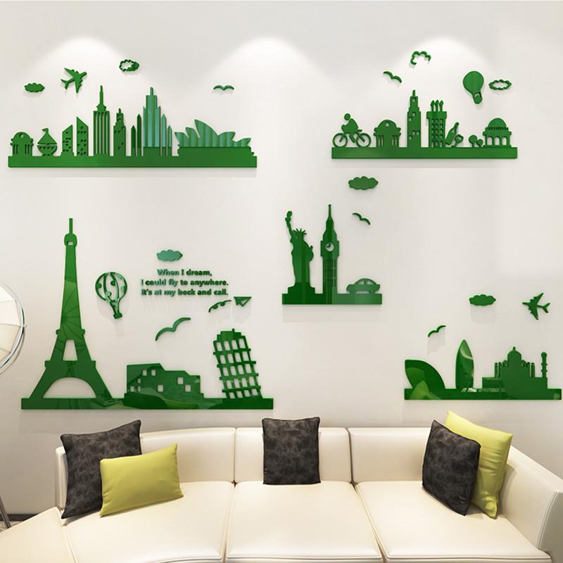 创意个性3d立体墙贴画现代简约客厅电视背景墙贴纸亚克力墙面装饰