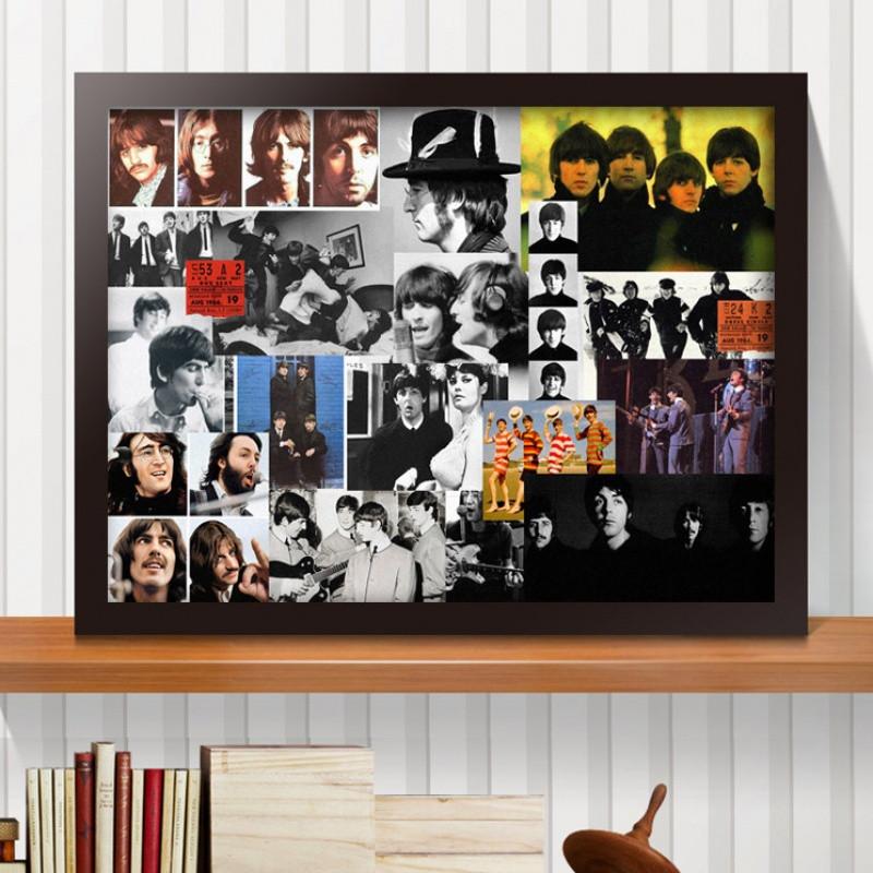 明星海报摇滚乐队欧美音乐琴行吉他装饰画墙画壁画酒吧挂画披头士