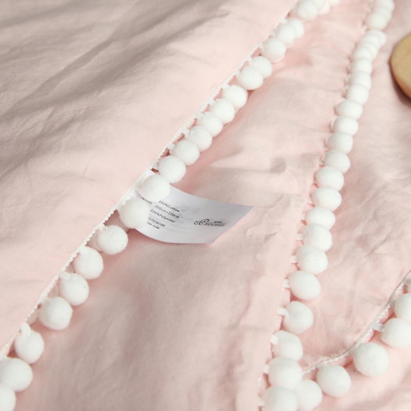 新款2018三只萌兔几少女心 水洗棉夏被纯棉空调被粉色可爱宝宝午休盖
