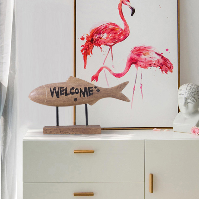 新款2018北欧招财鱼摆件家居装饰品店铺家用客厅欧式玄关电视柜风水图片