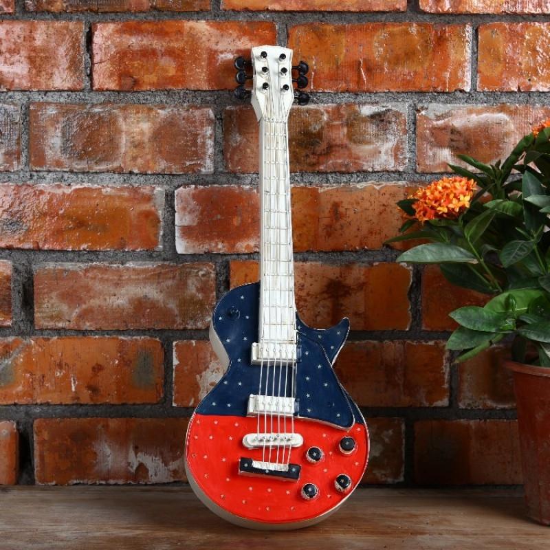 新款2018铁工艺品小提琴乐器模型摆设复古创意家居装饰品摆件吉它拍摄图片