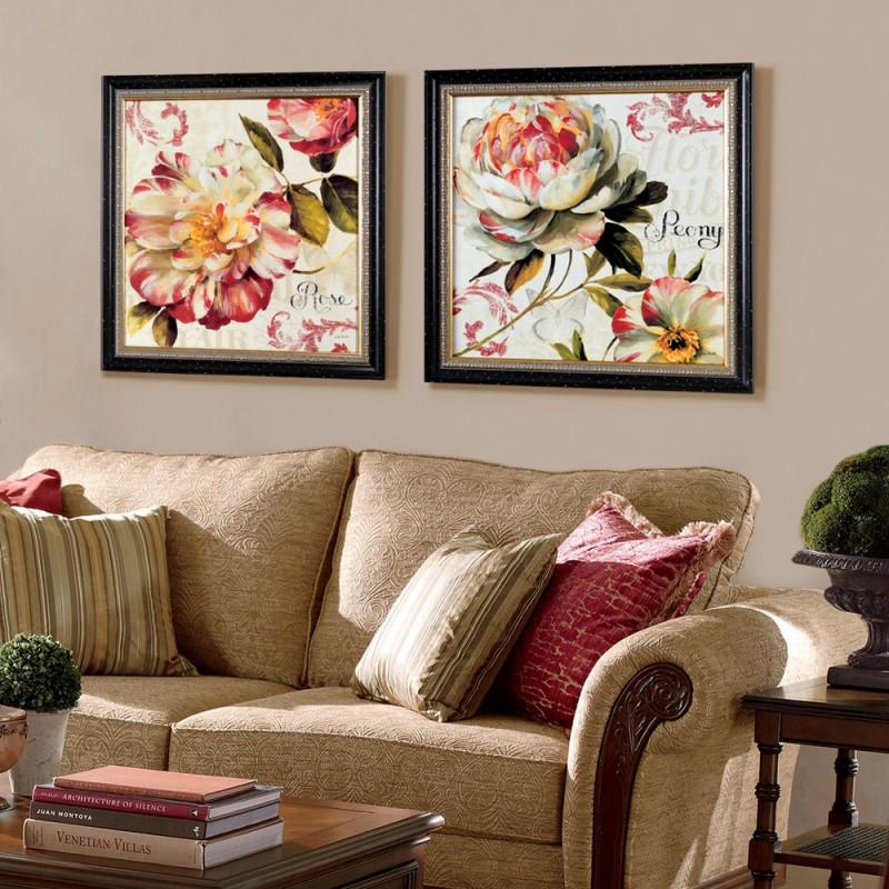 新款2018斯柏达欧式装饰画客厅卧室简约三联装饰画玄关挂画沙发背景墙