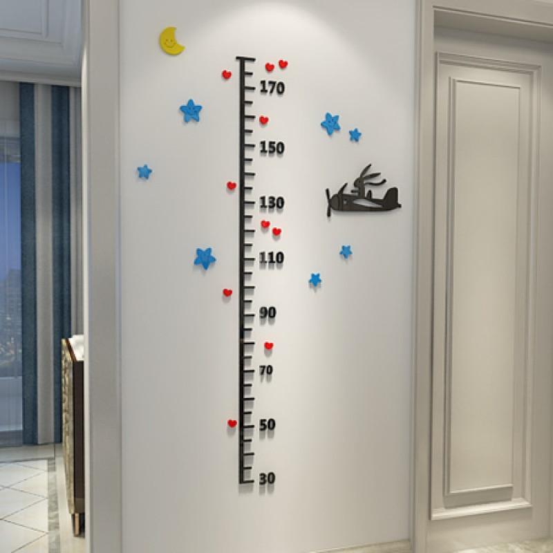 新款特价3d立体宝宝身高贴儿童房幼儿园亚克力身高墙贴卡通身高贴特价