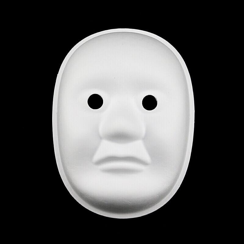 万圣节diy空白脸谱面具白色京剧马勺儿童绘画白胚手绘