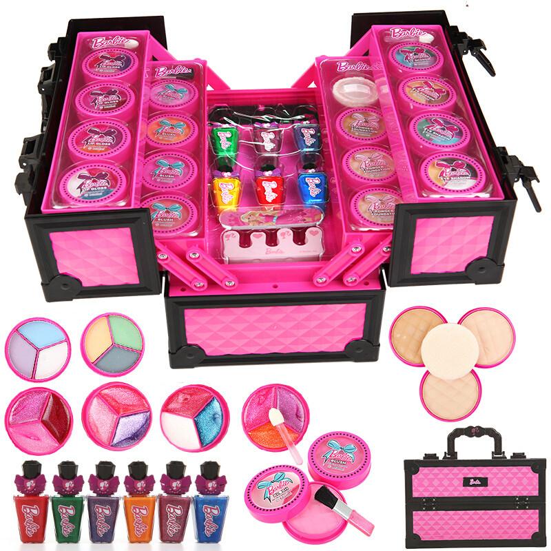 手提箱儿童化妆品公主彩妆盒套装组合女孩演出妆生日礼物