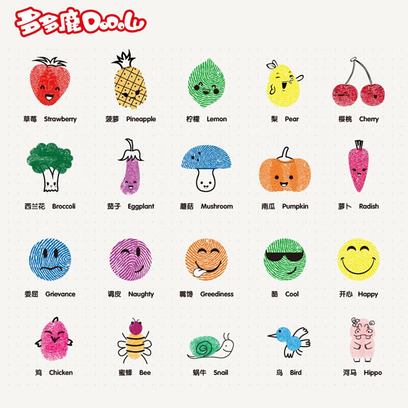 手指画颜料安全可水洗彩色儿童涂鸦画画套装配工具图片