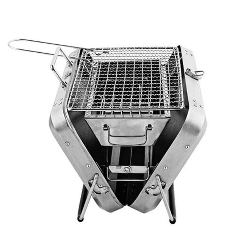戶外 折疊便攜式不銹鋼燒烤架 迷你燒烤爐子手提