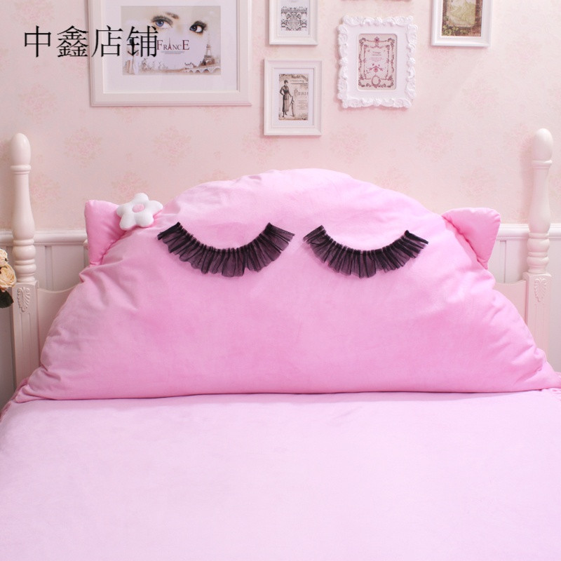 韩式可爱公主 配套床品床头靠垫 床靠背/靠枕抗压 情儿猫
