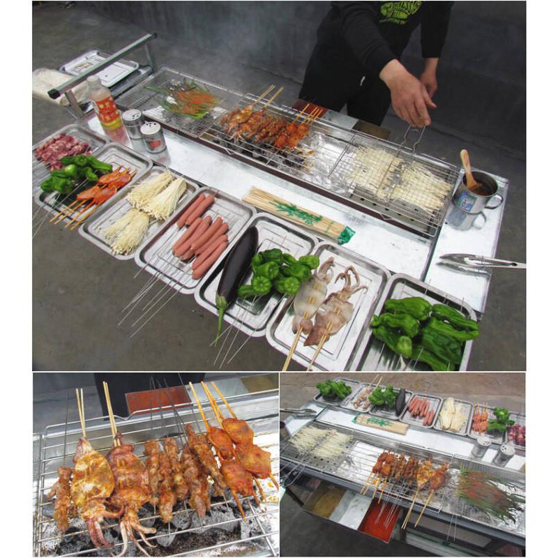 加宽加厚烧烤炉商用摆摊户外木炭大号烧烤车羊肉串夜市烧烤架烤机