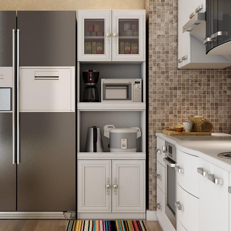 建锋优选 餐边柜简约现代简易储物收纳柜厨房微波炉柜