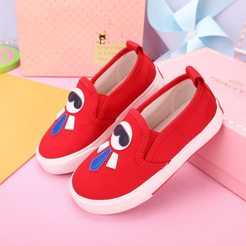 海绵宝宝儿童帆布鞋男童鞋女童鞋休闲中大童低帮套脚布鞋一脚蹬