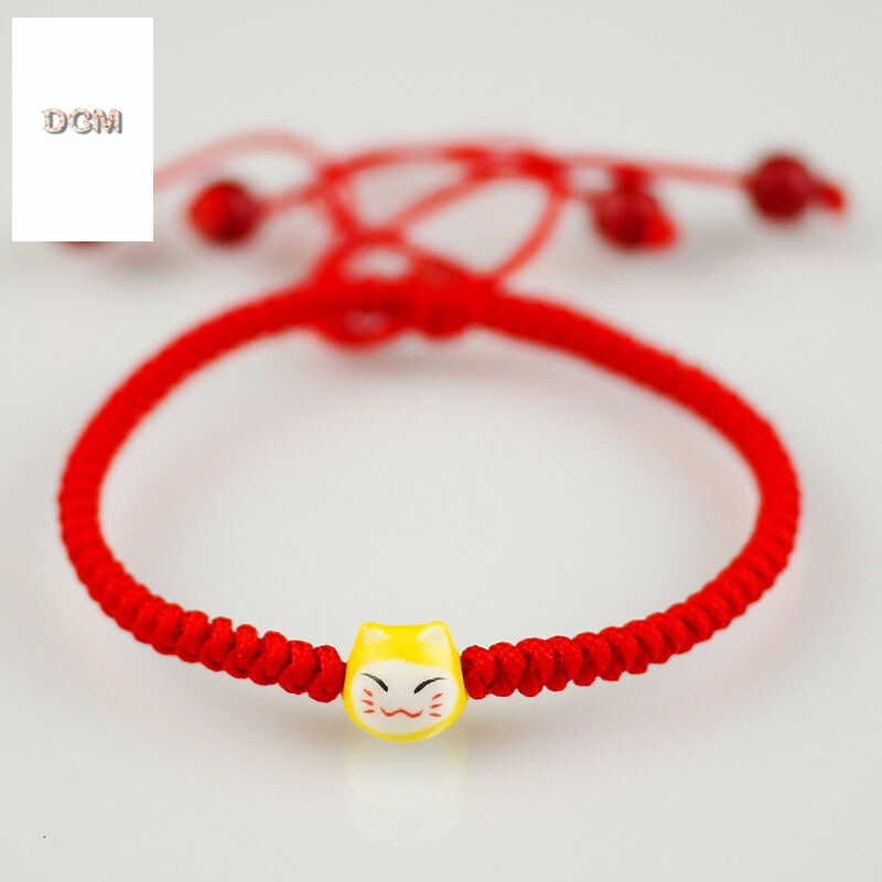 儿童手链女款红绳手工编织可爱甜美幸运小孩学生本命年饰品