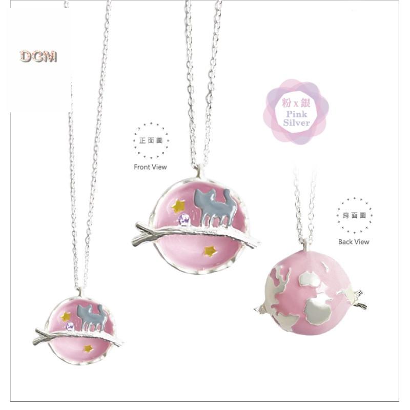 日本幻彩宇宙宝石小猫项链二次元萌妹猫咪链戒指发夹