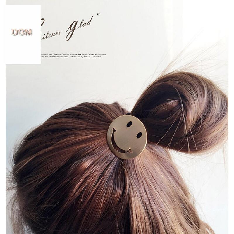 日韩版可爱卡通笑脸正能量发带皮筋发圈发绳头绳扎头发发饰头饰女