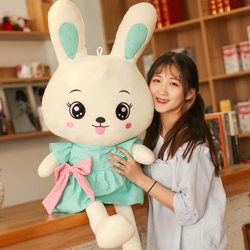 促销兔子毛绒玩具儿童圣诞礼物送女友布娃娃可爱长耳兔女生小白兔公仔