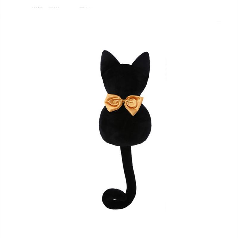 促销欢乐颂曲筱绡款背影猫咪靠垫抱枕毛绒玩具公仔黑色蝴蝶结猫猫玩偶