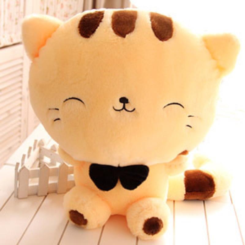 促销可爱猫咪公仔大尾巴大脸猫毛绒玩具抱枕布娃娃送女生情人节礼物