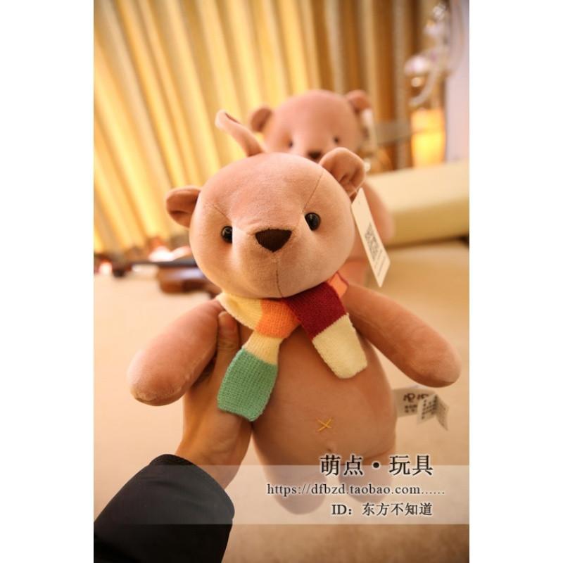 促销可爱围巾小熊毛绒玩具公仔布娃娃抱抱熊玩偶睡觉抱枕儿童生日礼物