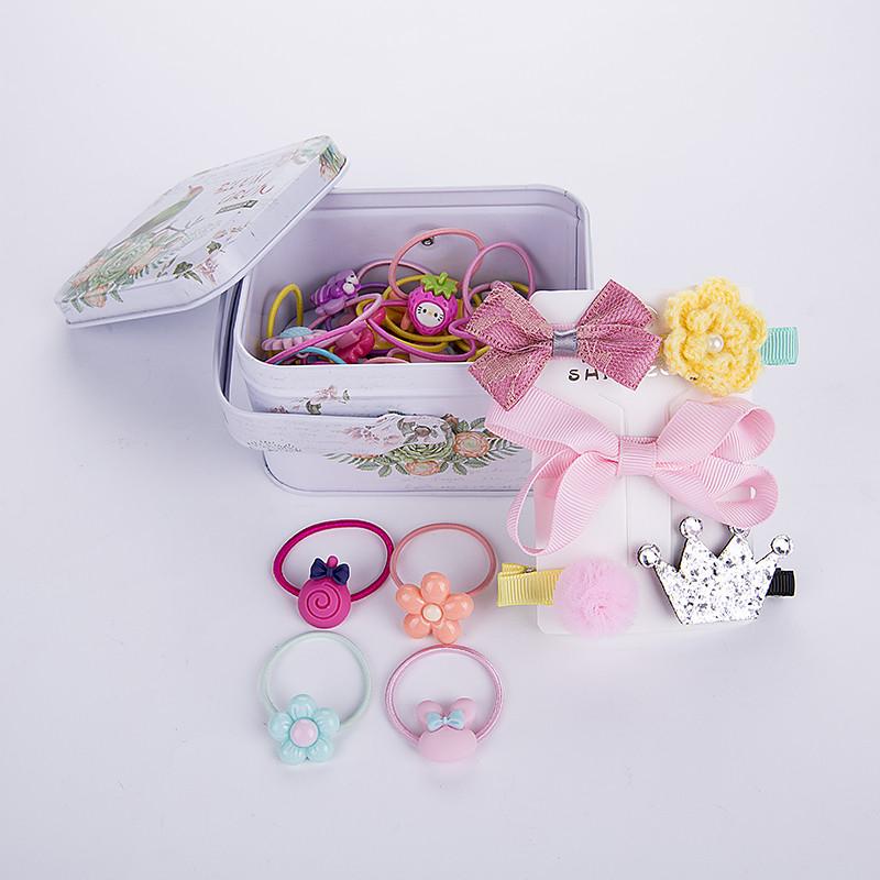 促销儿童发饰25件套装可爱宝宝头绳发夹小女孩橡皮筋发圈刘海边夹子