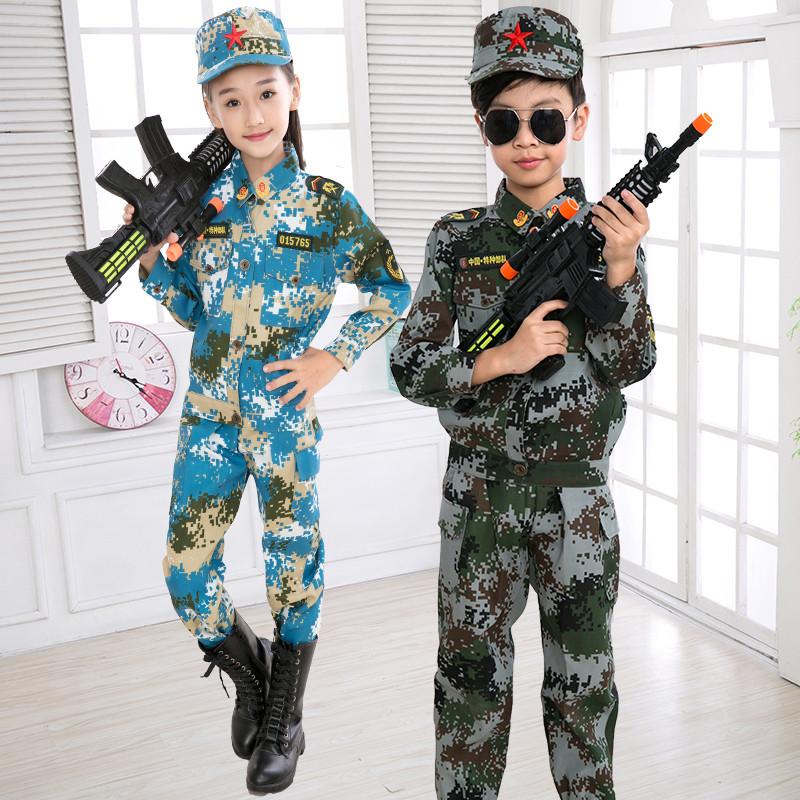 2018儿童迷彩服军训军装演出服中小学生户外海陆空特种兵表演服装套装