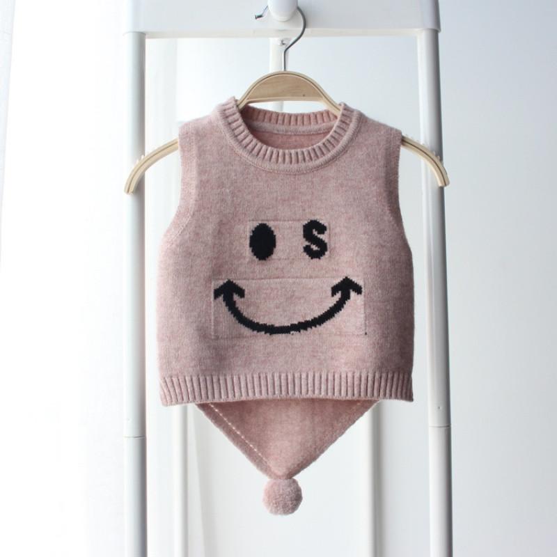 2018秋冬新款儿童婴儿马甲男童女童毛线背心宝宝圆领针织坎肩韩版童装