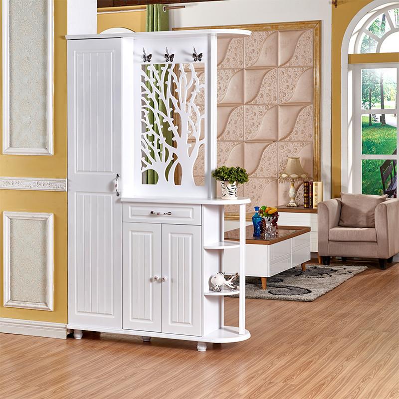 欧式雕花镂空带镜子客厅隔断间厅柜双面烤漆鞋柜衣帽柜玄关门厅柜