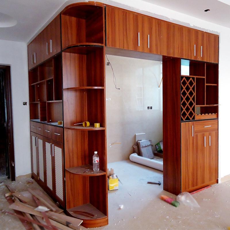南寧家具定制定做板式玄關柜鞋柜酒柜組合廚房隔斷柜雙面門廳柜