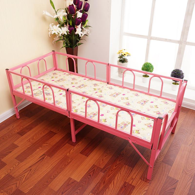 折叠床儿童带护栏幼儿园小餐桌1.5米1.8单人午休男孩铁床女孩公主