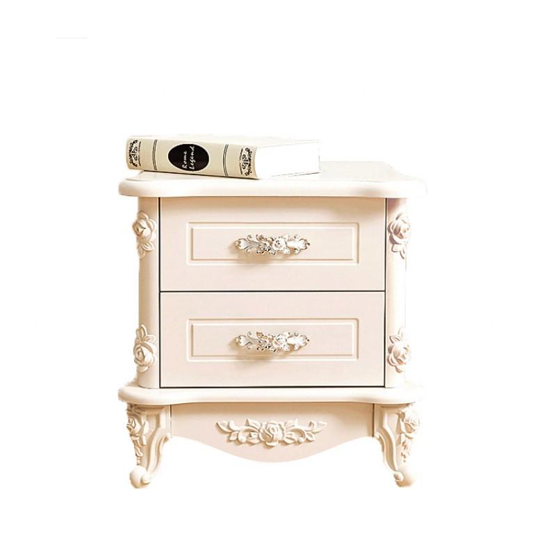 简易卧室柜床头柜白色烤漆百搭储物柜现代简约实木家具收纳柜特价