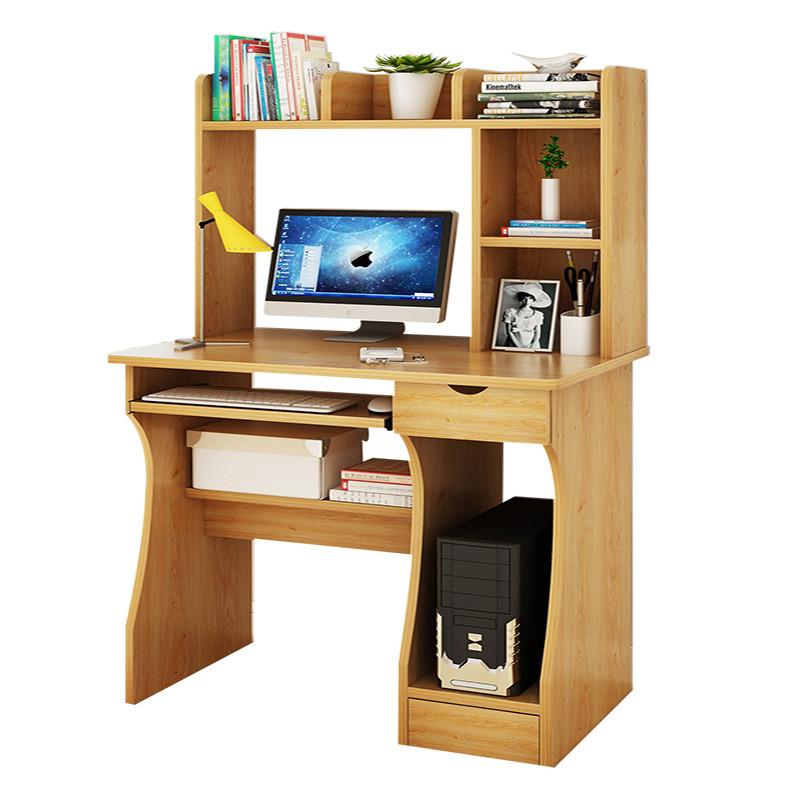 电脑桌台式小桌子书桌书架组合简约家用卧室简易写字桌