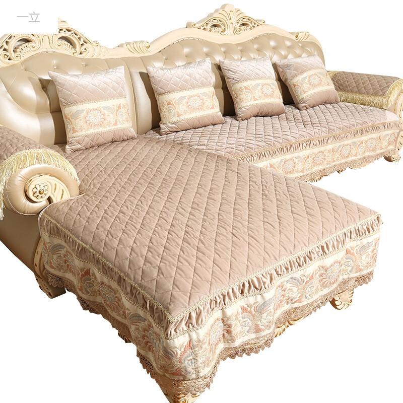 一立皮沙发垫防滑欧式沙发套巾四季布艺坐垫真皮沙发垫子美式贵妃定做