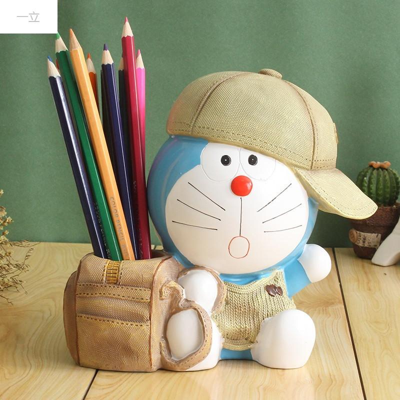 一立新款特价哆啦a梦创意可爱卡通儿童生日礼物学生木质简约笔筒韩国