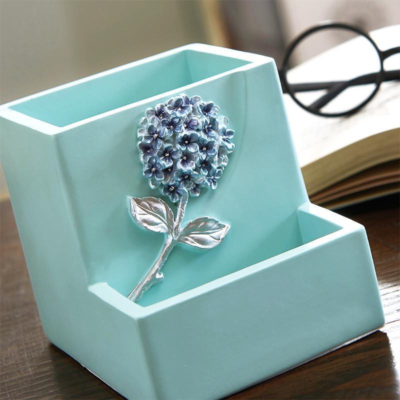 多功能笔筒创意办公桌摆件 可爱收纳盒笔筒小清新 新居装饰
