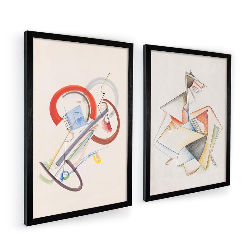 現代簡約抽象風格客廳裝飾畫玄關墻畫書房掛畫油畫布三聯壁畫