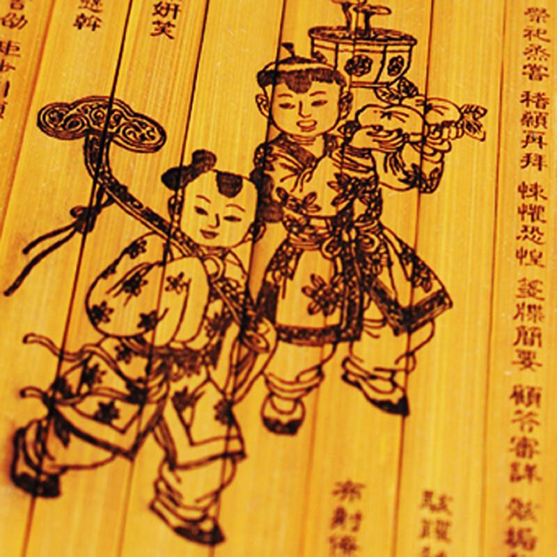 竹制雕刻竹简书奏折竹简情书工艺品中国特色送老师老外礼物中秋节礼物