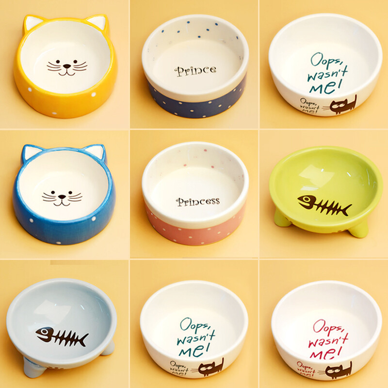 icepad京潮宠物碗狗碗泰迪狗食盆可爱猫碗猫咪小狗饭盆单碗狗狗卡通