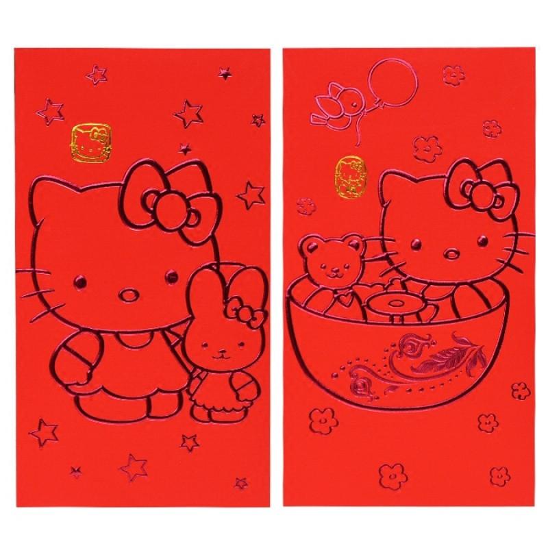 2018狗新年红包凯蒂猫卡通创意烫金新年红包袋利是封